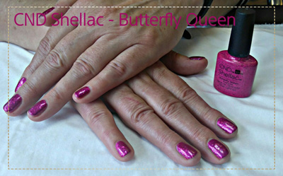 CND Shellac Butterfly Queen Creations Beauty
